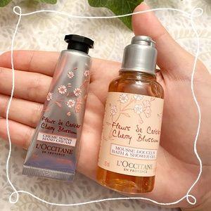 L'Occitane Cherry Blossom bath gel, hand cream set